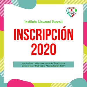 Descargue el Instructivo de Matriculación 2020 desde el área de Descargas